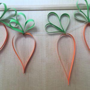 Basteltipp……..Karotten Girlande