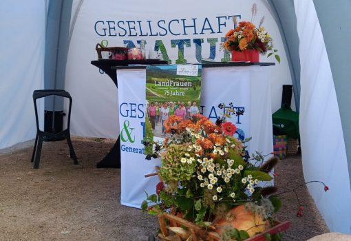 Landfrauen Donzdorf hatten einen Info Stand bei der Gesellschaft + Natur Generationpakt Nachhaltigkeit